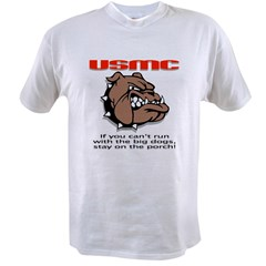 USMC Brown Bulldog Value T-shirt