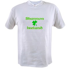 Shannon, Ireland Ash Grey Value T-shirt