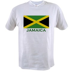 Flag of Jamaica Ash Grey Value T-shirt