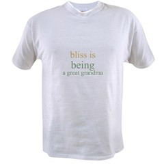bliss is being a great grandm Ash Grey Value T-shirt