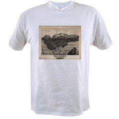 Antique map of Bar Harbor, Ma Value T-shirt