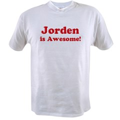 Jorden is Awesome Ash Grey Value T-shirt