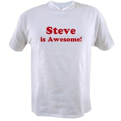 Steve is Awesome Ash Grey Value T-shirt