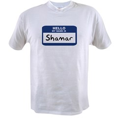 Hello: Shamar Ash Grey Value T-shirt