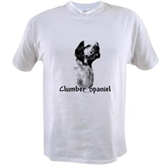 Clumber Spaniel Charcoal Value T-shirt