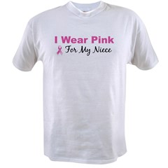 I Wear Pink For My Niece Ash Grey Value T-shirt