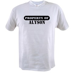 Property of Alyson Ash Grey Value T-shirt