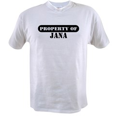 Property of Jana Ash Grey Value T-shirt