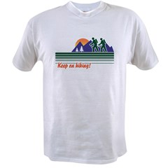 Keep on Hiking Ash Grey Value T-shirt