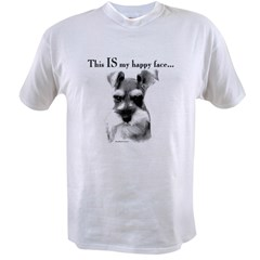 Schnauzer Happy Face Ash Grey Value T-shirt