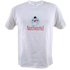 Snowman - Nathanial Ash Grey Value T-shirt