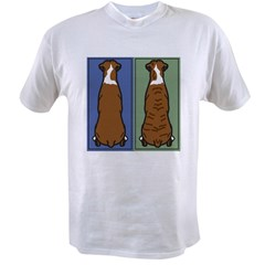 Boxer Fawn and Brindle Value T-shirt
