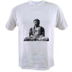 Retro Buddha Ash Grey Value T-shirt