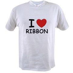 I love ribbon Ash Grey Value T-shirt