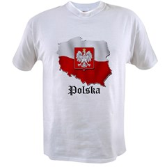 Poland flag map Value T-shirt