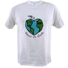Peace on Earth Ash Grey Value T-shirt