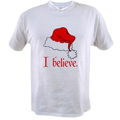 I Believe in Santa Ash Grey Value T-shirt