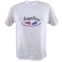 Angelitos Ninas y Ninos Ash Grey Value T-shirt