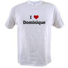 I Love Dominique Ash Grey Value T-shirt