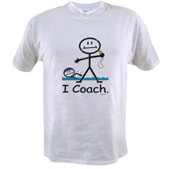 Swimming Coach Ash Grey Value T-shirt