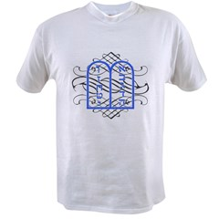 Blue Ten Commandments Tablets Value T-shirt