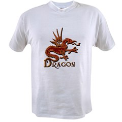Fire Red Dragon Value T-shirt