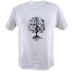 Guitar Tree Roots Value T-shirt
