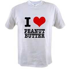 I Heart (Love) Peanut Butter Value T-shirt