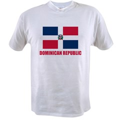 Dominican Republic Flag Value T-shirt