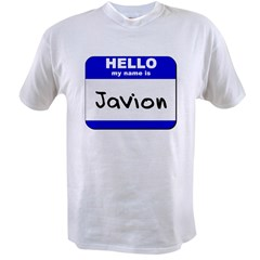 hello my name is javion Value T-shirt
