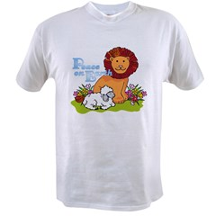 Lion & Lamb Peace On Earth Value T-shirt