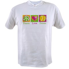 Peace Love Tennis Value T-shirt