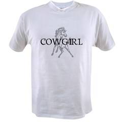 cowgirl & mustang Value T-shirt