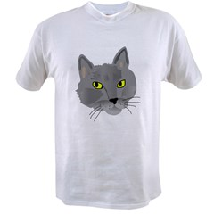 Gray Cat Value T-shirt