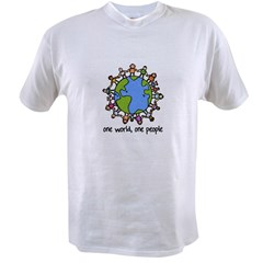 one world,one people Value T-shirt