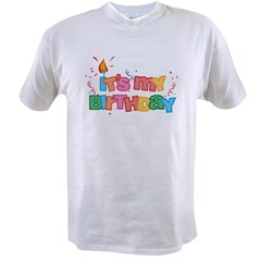 It's My Birthday Letters Value T-shirt
