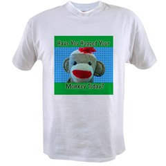 Hugged Monkey? Ash Grey Value T-shirt