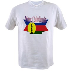 New Caledonian flag ribbon Value T-shirt