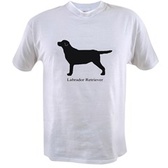 Black Labrador Retriever Value T-shirt