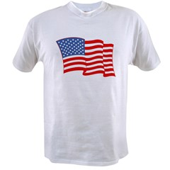 American Flag 4th Of July Value T-shirt