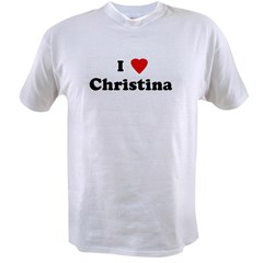 I Love Christina Value T-shirt