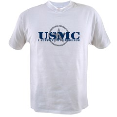 USMC - I Support My Grandson Value T-shirt