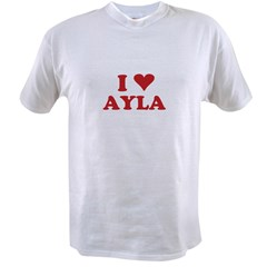 I LOVE AYLA Value T-shirt