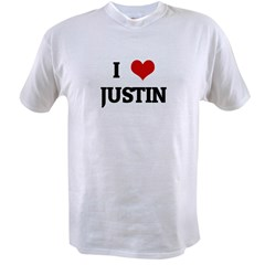 I Love JUSTIN Value T-shirt