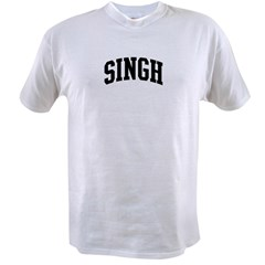 SINGH (curve-black) Value T-shirt