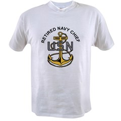 RETIREDNAVYCHIEF Value T-shirt