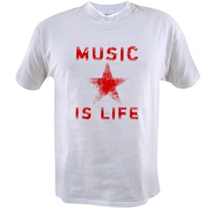 Music is Life Value T-shirt