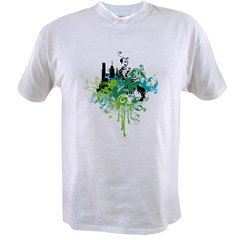 abstract floral design Value T-shirt