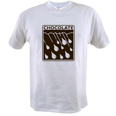 'Rain Drop Chocolate' Value T-shirt
