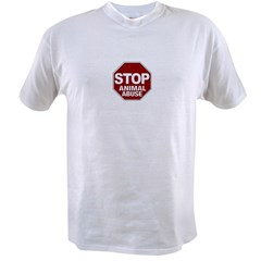 Stop Animal Abuse Value T-shirt